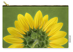 Carry-all Pouch featuring the photograph Sunflower Sunrise - Botanical Art by Debi Dalio