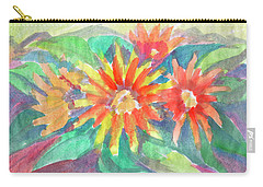Carry-all Pouch featuring the painting Sunflowers by Dobrotsvet Art