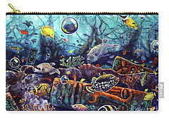 Sunken Tiki Reef Carry-all Pouch
