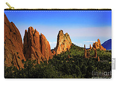 Carry-all Pouch featuring the photograph Sunlight On The Garden by Jon Burch Photography