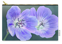 Carry-all Pouch featuring the photograph Sunny Blooms by Leda Robertson