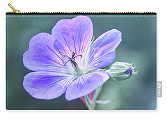 Carry-all Pouch featuring the photograph Sunny Blossom by Leda Robertson
