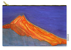 Carry-all Pouch featuring the painting Sunny Mountain Peak by Dobrotsvet Art