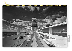 Carry-all Pouch featuring the photograph Sunny Skies At Marshall Point In Black And White by Rick Berk