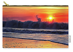 Carry-all Pouch featuring the photograph Sunrise At 142nd Street Beach Ocean City by Bill Swartwout Fine Art Photography