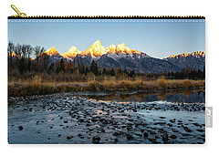 Carry-all Pouch featuring the photograph Sunrise At Schwabacher Landing by Scott Read