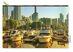 Carry-all Pouch featuring the photograph Sunrise At The Harbour by Geraldine Gracia