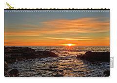 Sunrise By The Mediterranean Sea In Oropesa, Castellon Carry-all Pouch