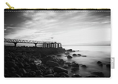 Sunrise In Black And White Carry-all Pouch