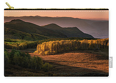 Sunrise In The Fall Mountains Of Utah Carry-all Pouch