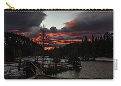 Sunrise Over Cascade Ponds, Banff National Park, Alberta, Canada Carry-all Pouch