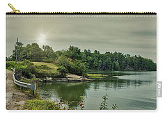 Carry-all Pouch featuring the photograph Sunrise Over Casco Bay by Guy Whiteley