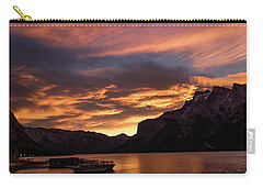 Sunrise Over Lake Minnewanka, Banff National Park, Alberta, Cana Carry-all Pouch