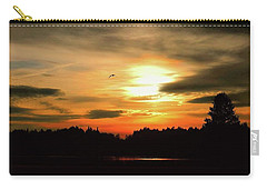 Sunset And Silhouette Carry-all Pouch