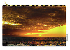 Sunset And Surf Carry-all Pouch