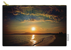Carry-all Pouch featuring the photograph Sunset Artistry by Milena Ilieva