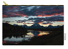 Carry-all Pouch featuring the photograph Sunset At Oxbow Bend by Scott Read