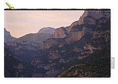 Carry-all Pouch featuring the photograph Sunset In The Anisclo Valley by Stephen Taylor
