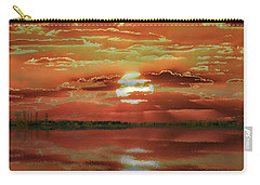 Carry-all Pouch featuring the photograph Sunset Lake by Bill Swartwout Fine Art Photography