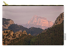 Carry-all Pouch featuring the photograph Sunset On Pena Montanesa by Stephen Taylor