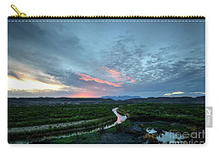 Carry-all Pouch featuring the photograph Sunset On The Rio Grande by Joe Sparks