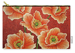 Carry-all Pouch featuring the painting Sunset Quintet by Amy E Fraser