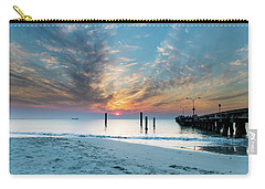 Sunset Seascape And Beautiful Clouds Carry-all Pouch