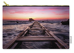 Sunset Shining Over A Wooden Pier In Livorno, Tuscany Carry-all Pouch