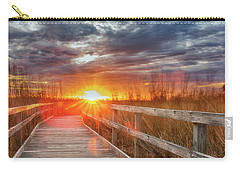 Carry-all Pouch featuring the photograph Sunset Walk by Russell Pugh