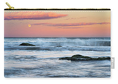 Super Moon And Sunset At Sozopol Town Beach Carry-all Pouch