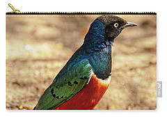 Carry-all Pouch featuring the photograph Superb Starling by Kay Brewer