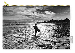 Carry-all Pouch featuring the photograph Surfer Silhouette by John Rodrigues
