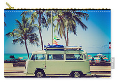 Carry-all Pouch featuring the photograph Surfer Van by Top Wallpapers