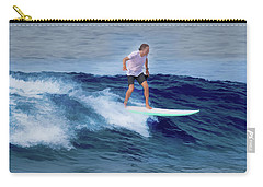 Carry-all Pouch featuring the painting Surfing Andy by Deborah Boyd