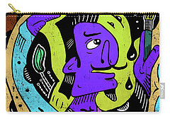 Carry-all Pouch featuring the digital art Surreal Painter by Sotuland Art