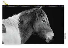 Susi Sole Portrait In Black And White Carry-all Pouch