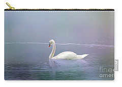 Swan In The Fog Carry-all Pouch