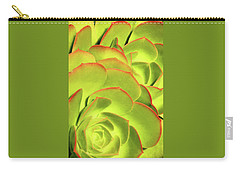 Carry-all Pouch featuring the photograph Sweet Succulents II by Leda Robertson