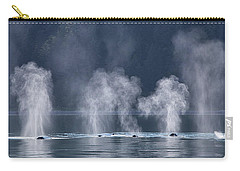Synchronized Swimming Humpback Whales Alaska Carry-all Pouch