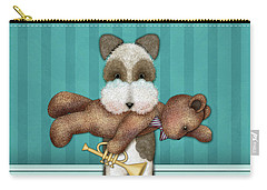 T Is For Terrier And Teddy Carry-all Pouch