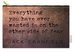 Take The Leap Quote Carry-all Pouch