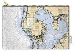 Tampa Bay And St. Joseph Sound Noaa Chart 11412 Carry-all Pouch