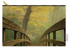 Tanawha Trail Blue Ridge Parkway - Foggy Autumn Carry-all Pouch