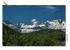 Carry-all Pouch featuring the photograph Tantalus Mountain Range by Jon Burch Photography