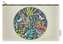 Tapestry Design Button Carry-all Pouch