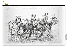 Carry-all Pouch featuring the photograph Team Work 2 by Brad Allen Fine Art