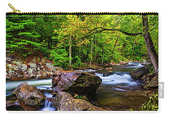 Carry-all Pouch featuring the photograph Tellico River Serenity by Andy Crawford