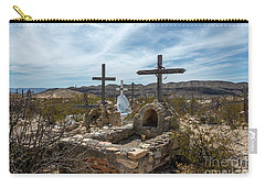 Carry-all Pouch featuring the photograph Terlingua Cemetery by Joe Sparks