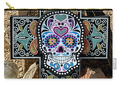 Carry-all Pouch featuring the photograph Terlingua Cross by Joe Sparks