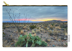 Carry-all Pouch featuring the photograph Texas Sunrise by Joe Sparks